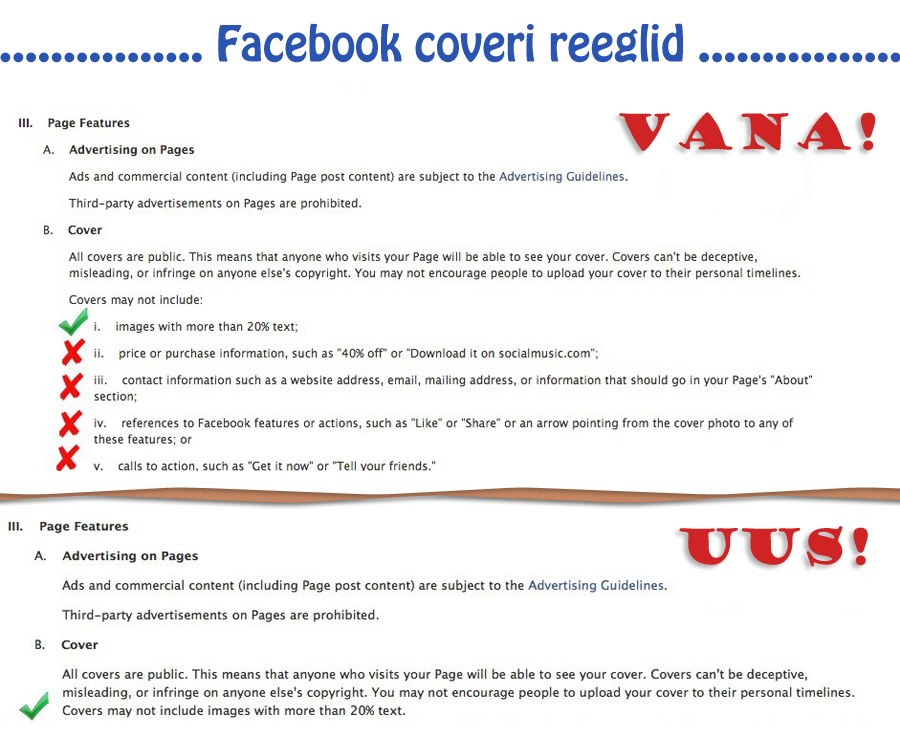 facebook coveri reeglid